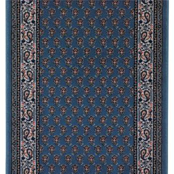 <PRE>Runner Area Rug 2' 3inch Wide, Sold by Foot Blue Wool </PRE>zoom1