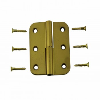 Lift Off Right Cabinet Hinge Solid Brass Radius 2 x 25