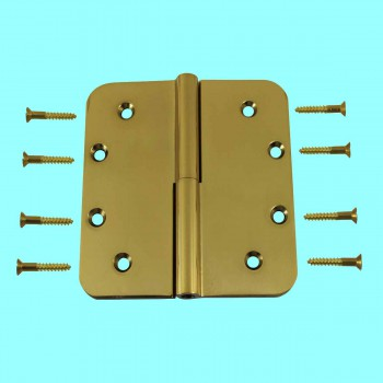 <PRE>Lift Off Right Door Hinge Bright Solid Brass Radius 5inch </PRE>zoom2