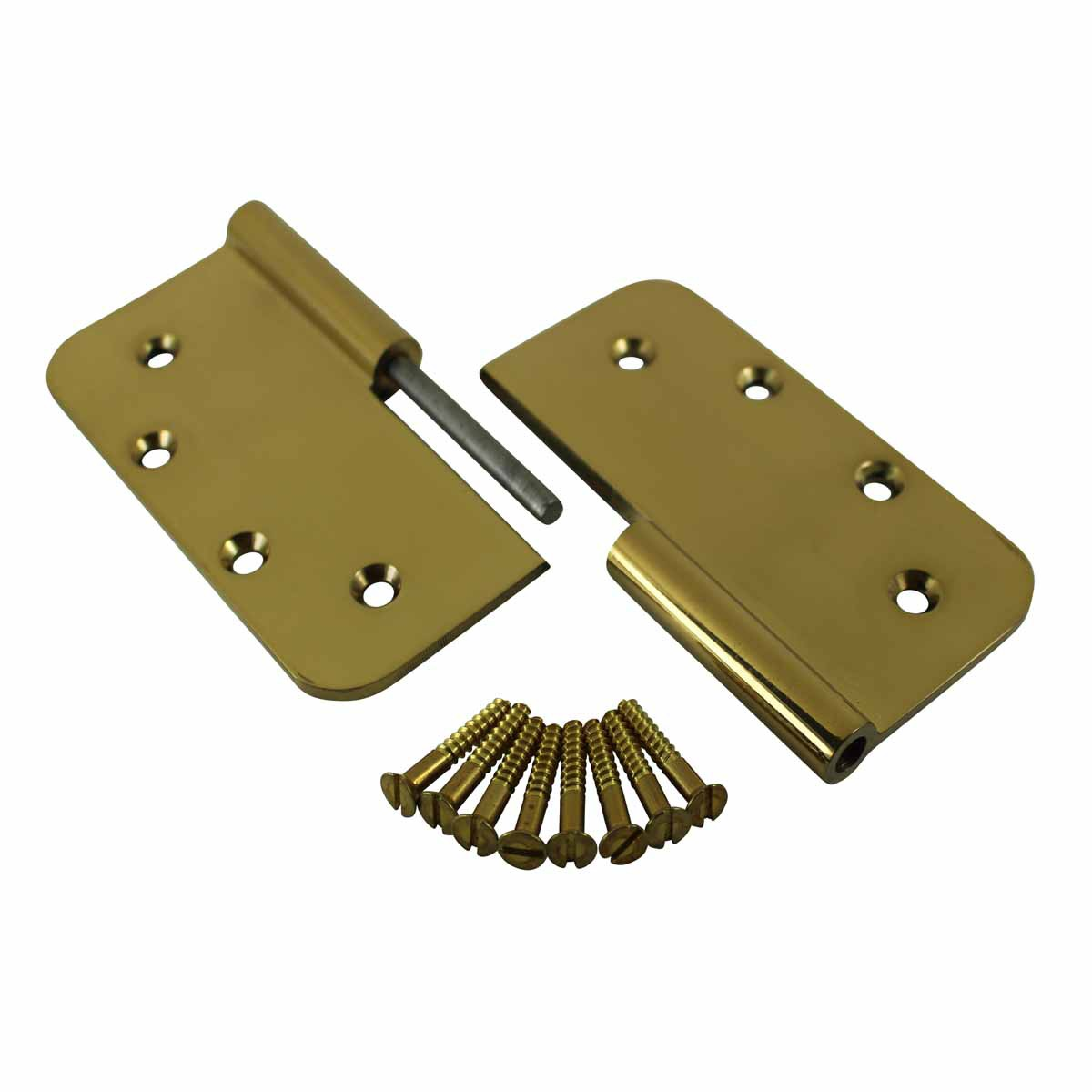 Lift Off Right Door Hinge Bright Solid Brass Radius 5 Door Hinges Door Hinge Solid Brass Hinge