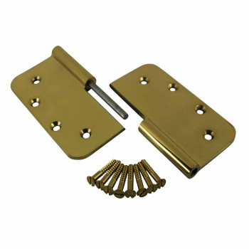 <PRE>Lift Off Right Door Hinge Bright Solid Brass Radius 5inch </PRE>zoom3