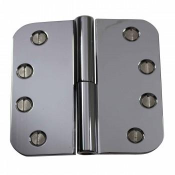 4 Lift Off Right Door Hinge Bright Chrome Radius