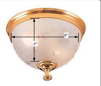 spec-<PRE>Lamp Shades Frosted Glass Small Dome Ceiling Shade Only </PRE>
