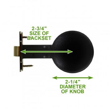 spec-<PRE>Black/Brass Interior Door Hardware Privacy 2 3/4 in. Backset</PRE>