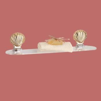 <PRE>Traditional Acrylic Shelf Brass 24inch Sea Crest Brackets </PRE>zoom2
