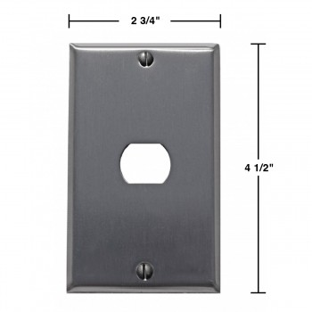 spec-<PRE>Switchplate Brushed Stainless Steel 1 Interchang/Despard </PRE>