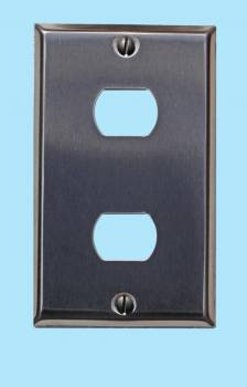 Switchplate Brushed Stainless Steel 2 Interchange/Despard