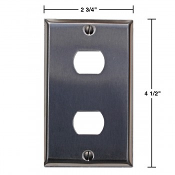 spec-Switchplate Brushed Stainless Steel 2 Interchange/Despard