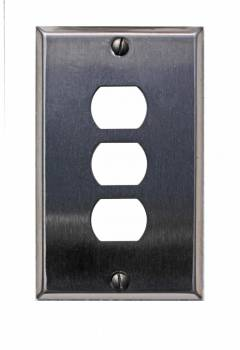 Switchplate Brushed Stainless Steel 3 Interchange/Despard