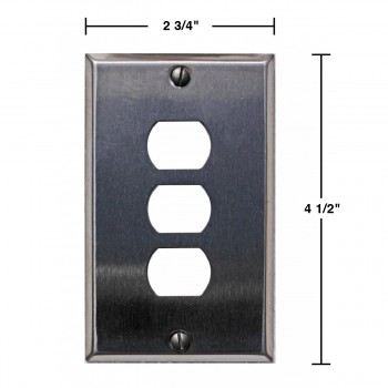 spec-Switchplate Brushed Stainless Steel 3 Interchange/Despard