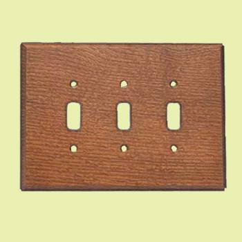 <PRE>Switchplates Oak Tripple Toggle Plate </PRE>zoom2