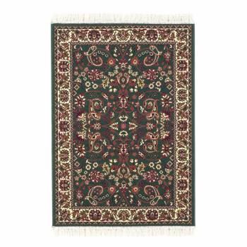 Area Rug Rectangular 5 7 x  3 11 Green Polypropylene Traditional Hunter Green Vintage Victorian Rectangle Rectangular Living Room Decorative Area Rug