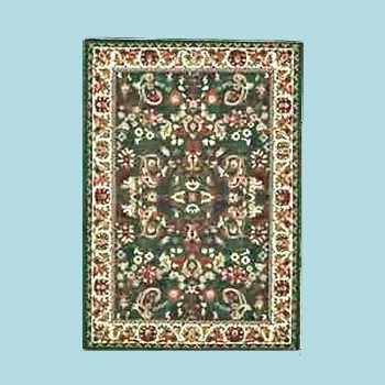 "<PRE>Rectangular Area Rug 7' 6inch x  5' 3"" Green Polypropylene </PRE>zoom2"