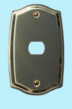 <PRE>Switch Plate Solid Brass 1 Interchangeable/Despard </PRE>zoom2