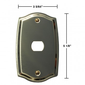 spec-<PRE>Switch Plate Solid Brass 1 Interchangeable/Despard </PRE>