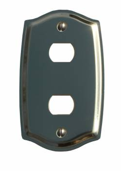 Switch Plate Solid Brass 2 Despard/Interchange 98238grid