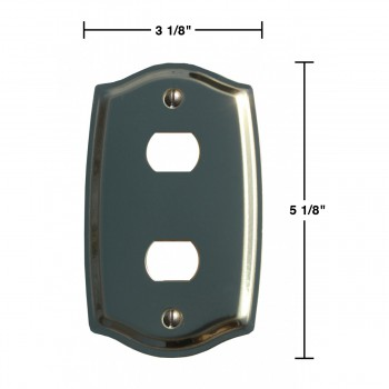 spec-<PRE>Switch Plate Solid Brass 2 Despard/Interchange </PRE>