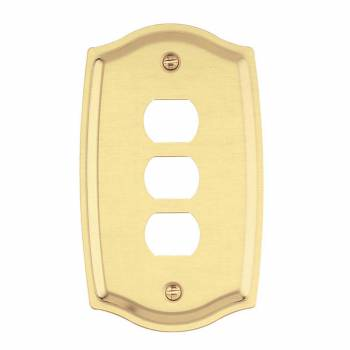 Switch Plate Solid Brass 3 Interchangeable/Despard 98239grid
