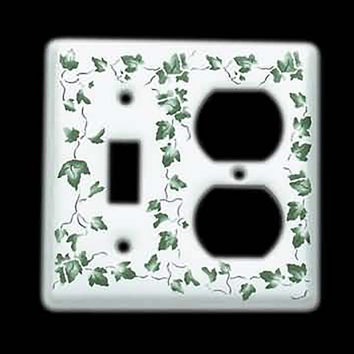 Switch Plate White Porcelain Ivy ToggleOutlet Switch Switch Plate Wall Plates Switch Plates