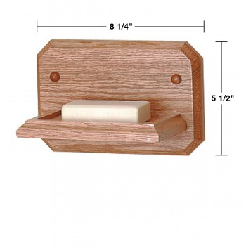 spec-<PRE>Bathroom Soap Dish Natural Oak Dish </PRE>