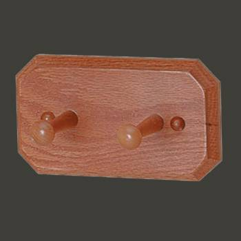 <PRE>Double Robe Hook Unique Natural Oak</PRE>zoom2