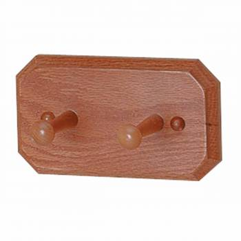Double Robe Hook Unique Natural Oak98259grid
