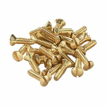 Brass Switchplate Screws 632 x 12 Slotted Oval Head Set of 25