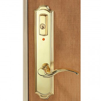 Solid Brass Mortise Entry Door Lock Lever Handle With Alarm 98314grid