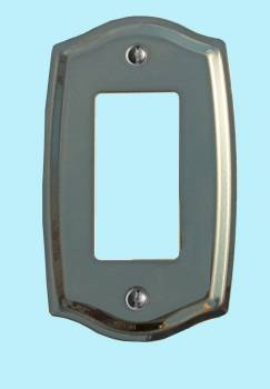 <PRE>Switchplate Bright Solid Brass Single GFI </PRE>zoom2