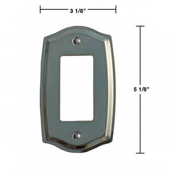 spec-<PRE>Switchplate Bright Solid Brass Single GFI </PRE>
