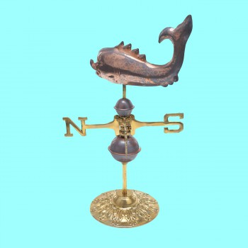 spec-<PRE>Weathervane Polished Solid Copper Whale Desktop </PRE>