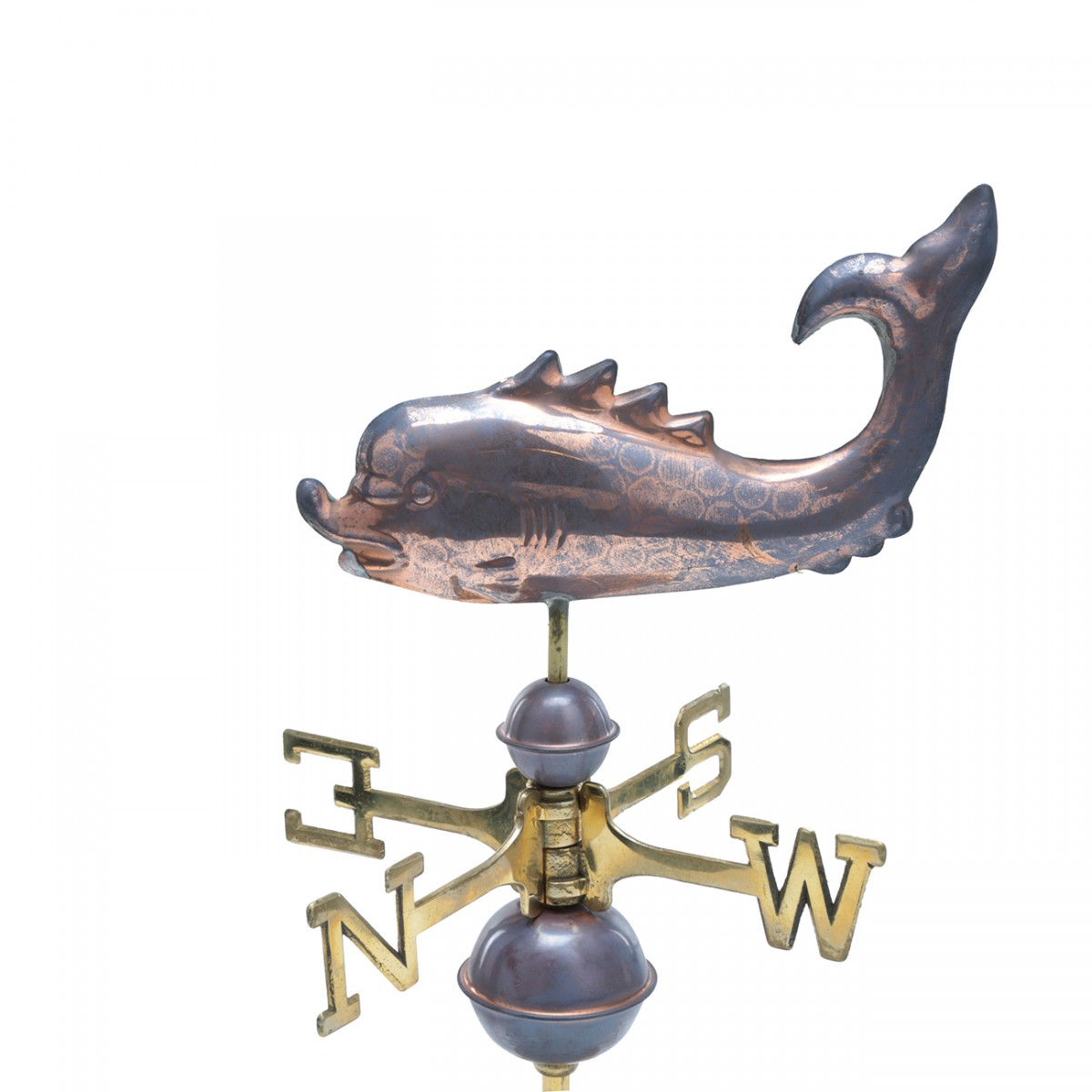 Weathervane Polished Solid Copper Whale Desktop Weathervanes Weathervane Copper Weathervane