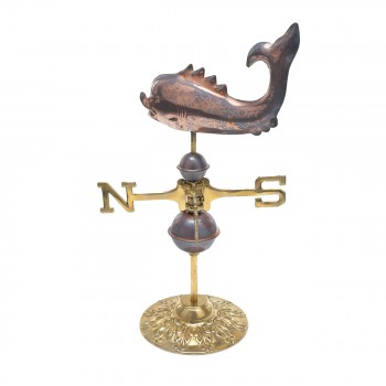 Weathervane Polished Solid Copper Whale Desktop 98336grid