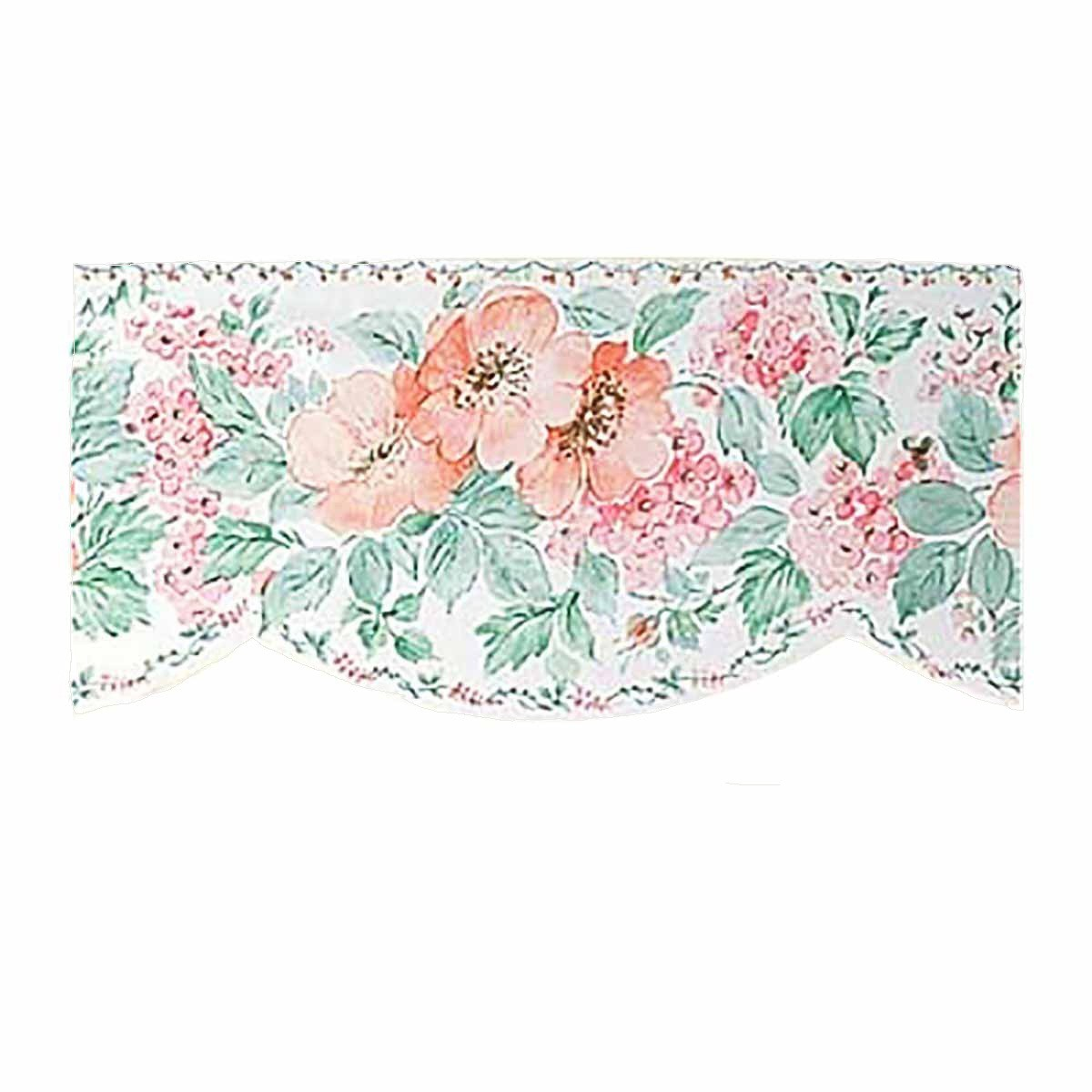 Wallpaper border peach green scalloped nylon for Wallpaper trim