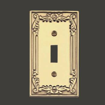 <PRE>Victorian Switch Plate Single Toggle PVD Solid Brass </PRE>zoom2