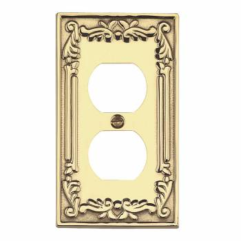 Victorian Switch Plate Outlet PVD Solid Brass 98383grid