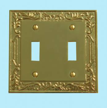 Victorian Switch Plate Double Toggle PVD Solid Brass Switch Plate Wall Plates Switch Plates