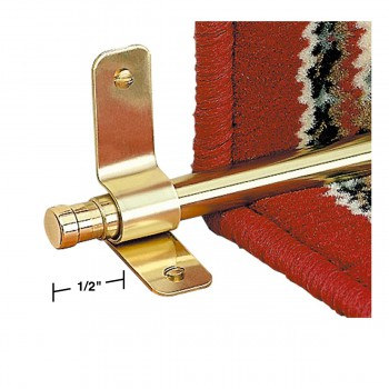 spec-<PRE>Carpet Rod Finials Barrel Pair Solid Brass 1/2&quot; </PRE>