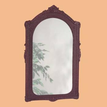 <PRE>Vintage Vanity Mirror Bathroom Wall Mount Cherry Urethane  </PRE>zoom2