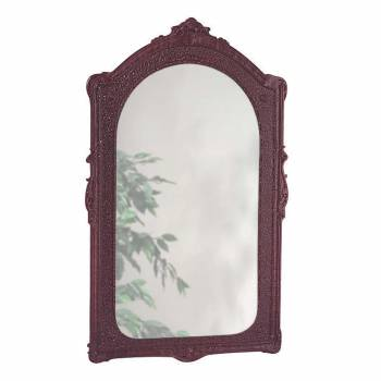 Vintage Vanity Mirror Bathroom Wall Mount Cherry Urethane  98406grid