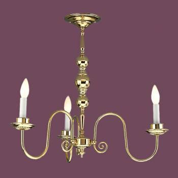 <PRE>Vintage Chandelier Bright Brass 3 Candle Lights </PRE>zoom2