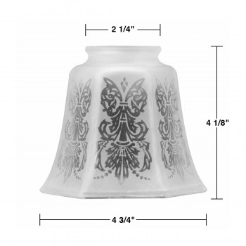 spec-<PRE>Lamp Shades Frosted Glass Tulip Shade 4 1/8&quot;H </PRE>