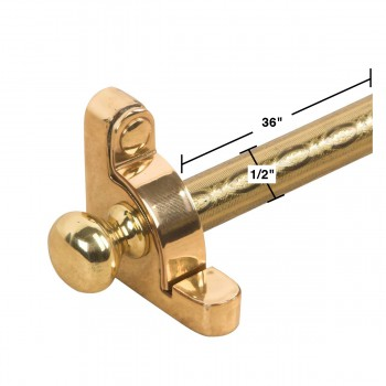 spec-<PRE>Carpet Rods Bright Brass Etched Tubing Ball Finial </PRE>