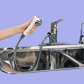 <PRE>Kitchen Faucet Chrome Widespread Sprayer Single Hole 1 Handle</PRE>zoom2