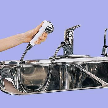 Kitchen Faucet Chrome Widespread Sprayer Single Hole 1 Handle Sink Faucet Sink Faucets Faucets