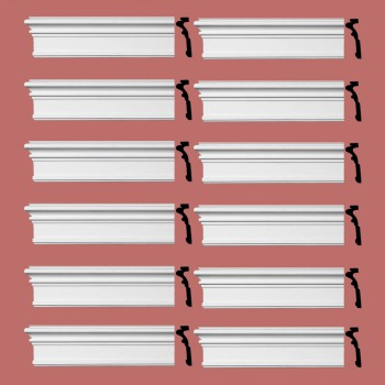 Renovators Supply Crown Molding Urethane Somerset Simple Design 12 Pieces Totaling 1152 Length White PrePrimed Urethane Crown Cornice Molding Cornice Crown Home Depot Ekena Millwork Molding Wall Ceiling Corner Cornice Crown Cove Molding