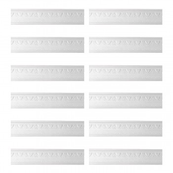 Renovators Supply Cornice White Urethane Pearl Ornate Design 12 Pieces Totaling 948 Length White PrePrimed Urethane Crown Cornice Molding Cornice Crown Home Depot Ekena Millwork Molding Wall Ceiling Corner Cornice Crown Cove Molding