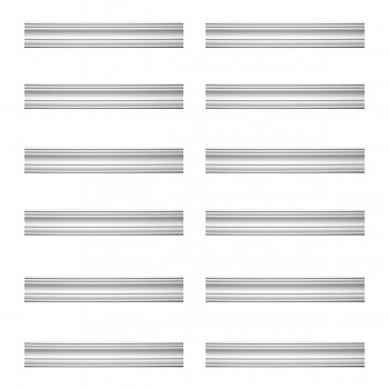 Renovators Supply Cornice White Urethane Pas De Calais Design 12 Pieces Totaling 1135.5 Length White PrePrimed Urethane Crown Cornice Molding Cornice Crown Home Depot Ekena Millwork Molding Wall Ceiling Corner Cornice Crown Cove Molding
