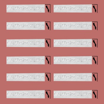 <PRE>Renovator's Supply Ornate Cornice White Urethane Sandoval Design 12 Pieces Totaling 1024.5inch Length</PRE>zoom2