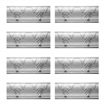Renovators Supply Cornice White Urethane Autumn Melody Design 8 Pieces Totaling 635 Length White PrePrimed Urethane Crown Cornice Molding Cornice Crown Home Depot Ekena Millwork Molding Wall Ceiling Corner Cornice Crown Cove Molding